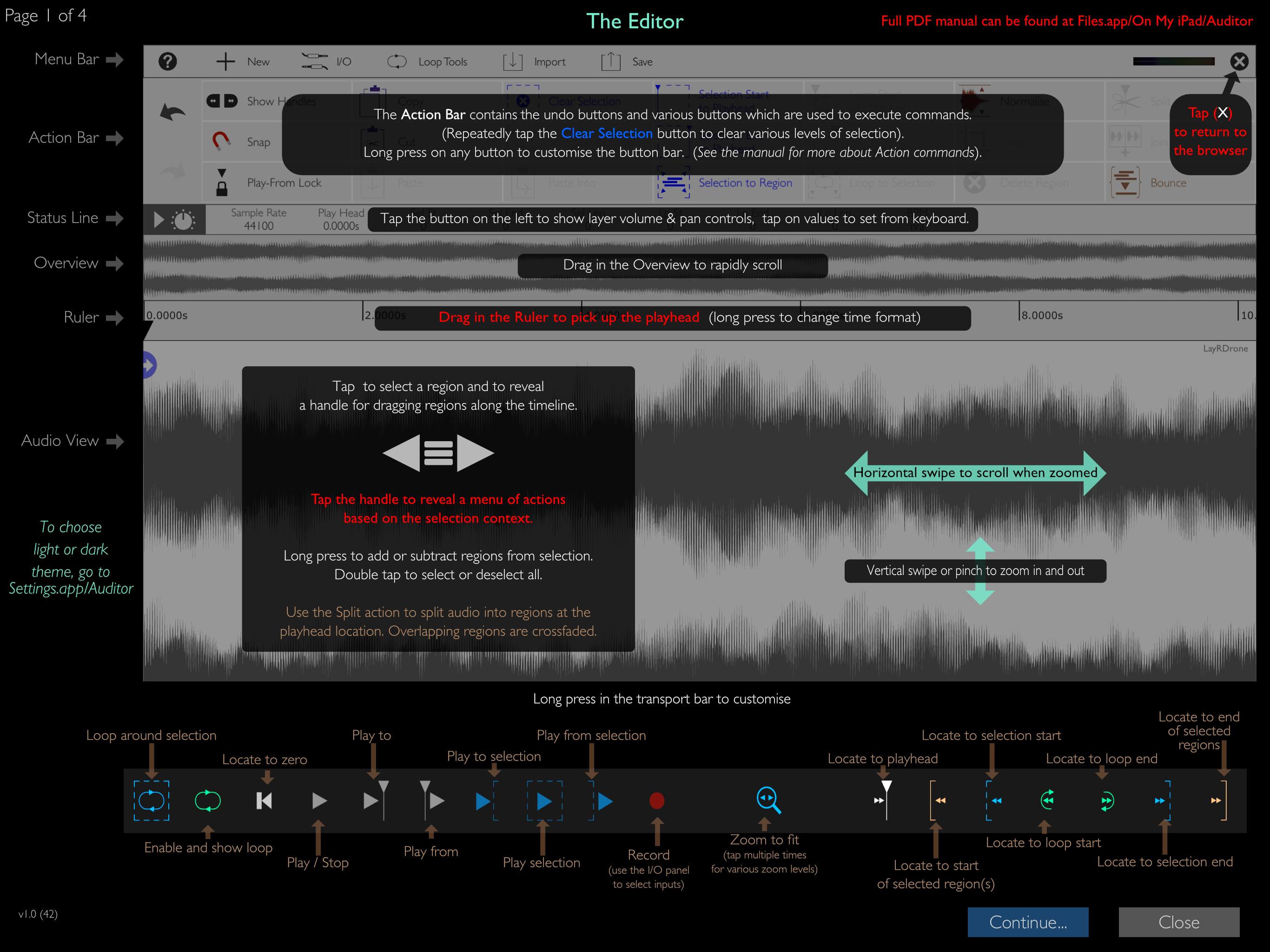 Auditor Full Onscreen Help